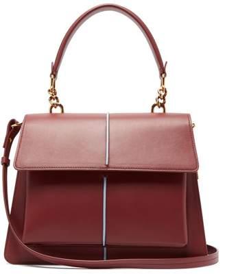 Marni Attache Medium Leather Bag - Womens - Burgundy
