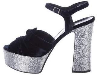 Saint Laurent Velvet Candy Sandals