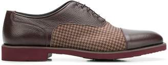 Moreschi checked panel oxford shoes