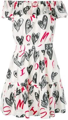 Moschino devoré hearts dress