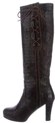 Henry Beguelin Embossed Knee-High Boots