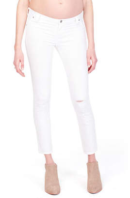 Ingrid & Isabel Maternity Sasha Distressed Skinny Jeans with Inset Panel