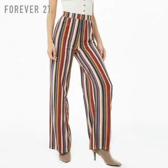 Forever 21 (フォーエバー 21) - Forever 21 ストライプハイウエストパンツ