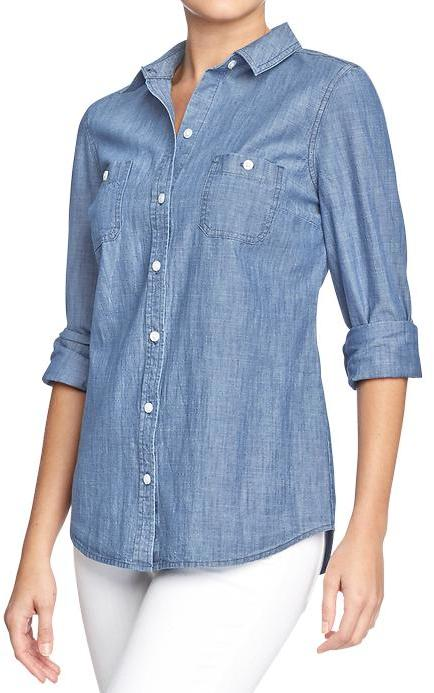 Old Navy Women's Classic Chambray Shirts