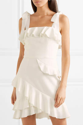 Rebecca Vallance Aegean Ruffled Crepe Mini Dress - White