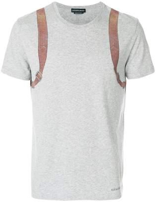 Alexander McQueen harness print T-shirt