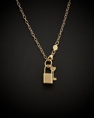 14K Italian Gold Lock & Key Necklace