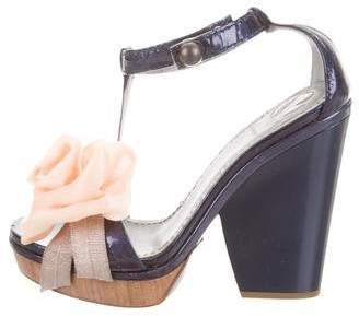 Reed Krakoff Floral Platform Sandals