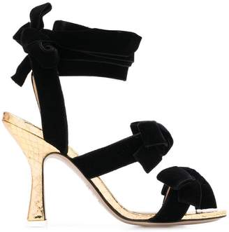ATTICO bow detail sandals