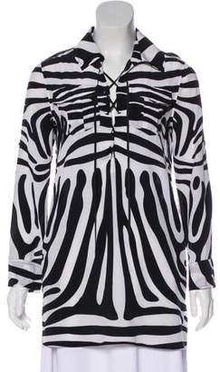 Rachel Zoe Animal Print Blouse