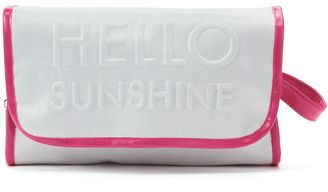 "Mirror Mirror ""Hello Sunshine"" Hanging Cosmetic Bag $24 thestylecure.com"