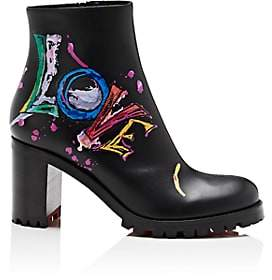 Christian Louboutin Women's Love Me Leather Ankle Boots-Black, Black lucido
