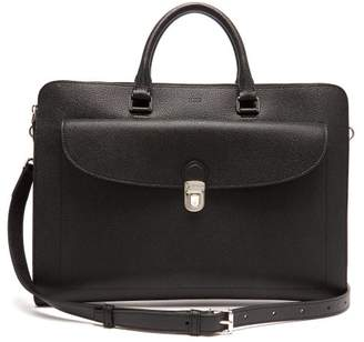 Tod's Extra Slim Pebbled Leather Briefcase - Mens - Black