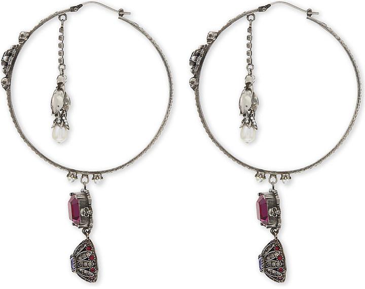 Alexander McQueenAlexander Mcqueen Jewel large hoop earrings