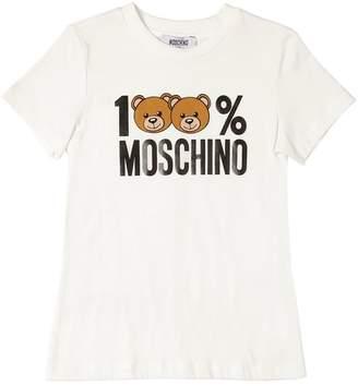 Moschino 100% Printed Cotton Jersey T-Shirt