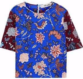 Diane von Furstenberg Floral-Print Silk-Faille Top