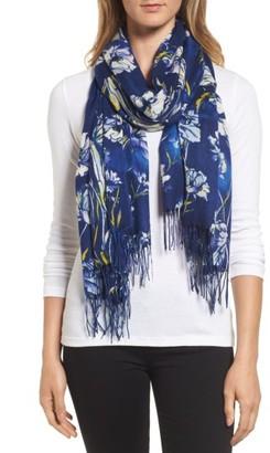 Women's Nordstrom Cambridge Print Wool & Cashmere Scarf $99 thestylecure.com