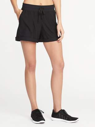 Old Navy Soft-Twill Drawstring Performance Shorts for Women