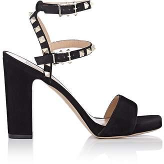 Valentino Women's Rockstud Suede Platform Sandals