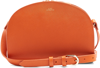 A.P.C. Half Moon leather cross-body bag $327 thestylecure.com