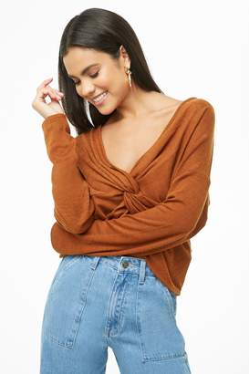 Forever 21 Twist-Front Surplice Top