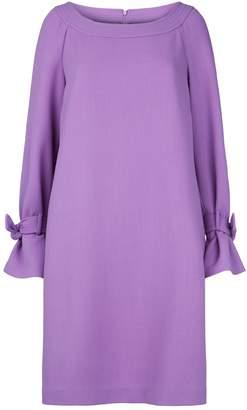 Lela Rose Cuff Tie Mini Dress