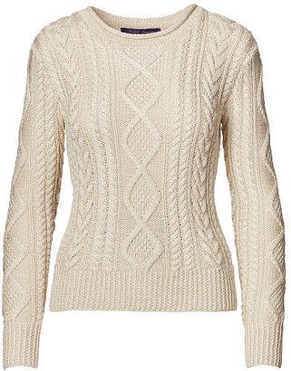 Ralph Lauren Hand-Knit Aran Sweater $1,290 thestylecure.com