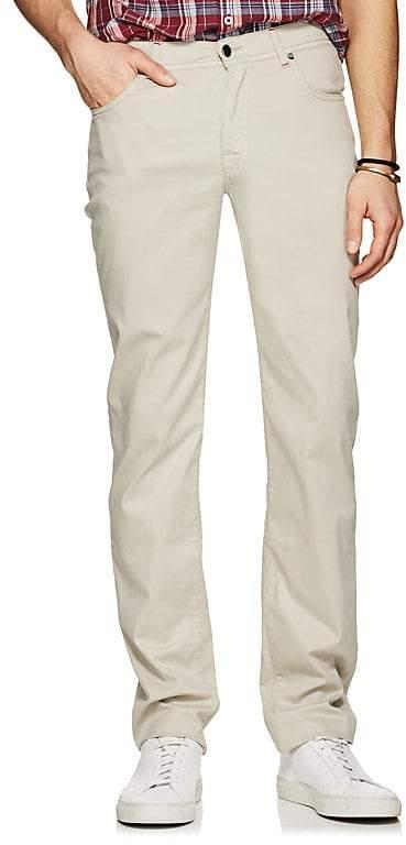 Men's Stretch Cotton-Silk Five-Pocket Pants