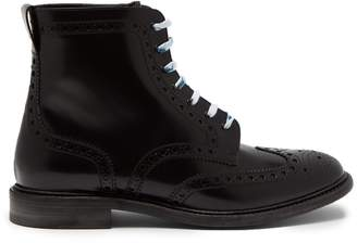 Burberry Perforated leather lace-up ankle boots