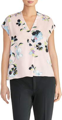 Rachel Roy Collection Floral Print Popover Top