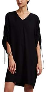 Maison Margiela Women's Crepe Drawstring Shift T-Shirt Dress - Black