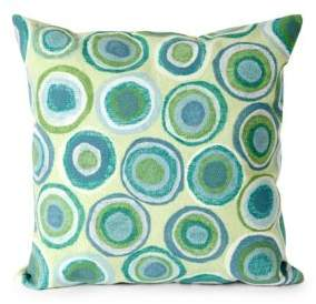 Visions II Puddle Dot Indoor and Outdoor Square Pillow