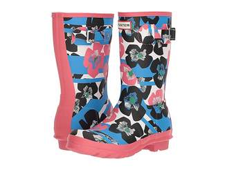 Hunter Floral Stripe Short Rain Boot Women's Rain Boots
