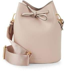 KENDALL + KYLIE Mini Leather Drawstring Bucket Bag