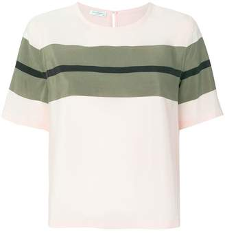 Equipment contrast stripe T-shirt
