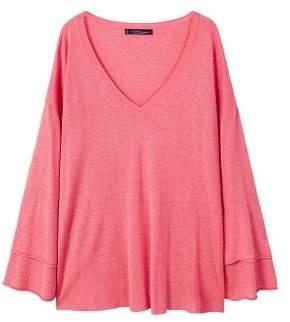 Violeta BY MANGO V-neck wool sweater