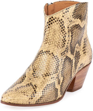 Isabel Marant Dacken Snake-Print Ankle Boots