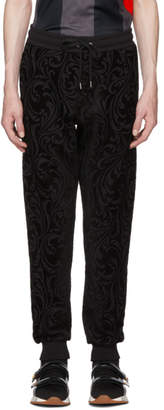 Versace Black Jacquard Baroque Lounge Pants