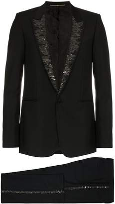 Givenchy bead embellished wool mohair blend tuxedo