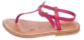 K Jacques St Tropez Leather Thong Sandals