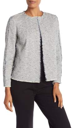 Lafayette 148 New York Dani Knit Frayed Trim Jacket