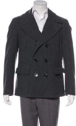 Burberry Wool Double-Breasted Peacoat