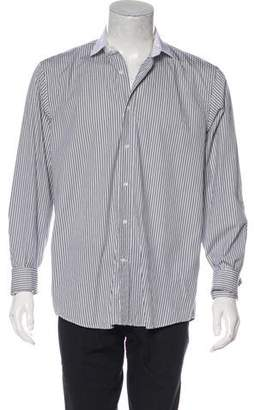 Ralph Lauren Black Label Striped French Cuff Dress Shirt