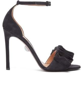 Samuele Failli - Alexandra Suede Sandals - Womens - Dark Grey