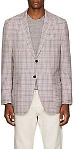 Calvin Klein Men's Checked Wool Two-Button Sportcoat Size 48 Eu