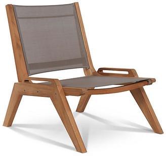 Draper Sling Accent Chair - Taupe - Hiteak Furniture