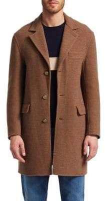 Brunello Cucinelli Solid Notch Topcoat