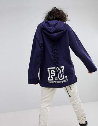 Puma X Fenty Long Sleeve Hoodie With Lace Back