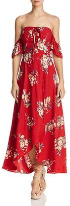 Band of Gypsies Off-the-Shoulder Floral-Print Midi Dress - 100% Exclusive