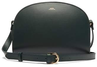 A.P.C. Half Moon Leather Cross Body Bag - Womens - Dark Green